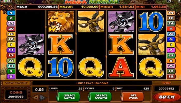 Jackpot Spielautomat Mega Moolah